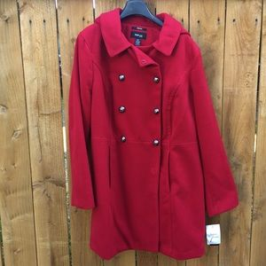 Style & Co Jackets & Blazers - ⬇️ NWT Red Peacoat