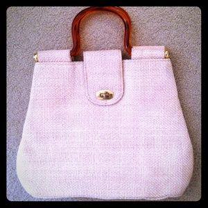 Vintage Handbags - Vintage Ivory Woven Handbag