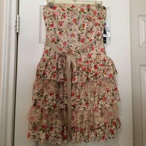 Unique lace layered dress