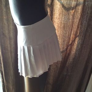 a7e0c9c164 Leg Avenue Skirts - NWT Leg Avenue satin white pleated mini skirt sz S