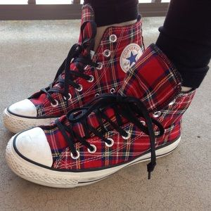 Converse Shoes | Tartan Plaid Converse