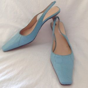 SERGIO ROSSI CROCEMBOSSED SLINGBACK PUMP SIZE 36/6
