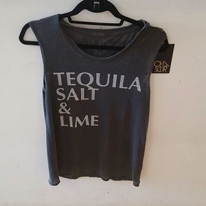 Chaser tequila salt lime tank