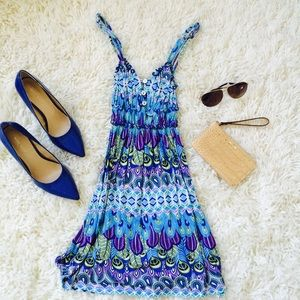 Lucy Love Dresses & Skirts - Blue, Green, & Purple Stretchy Sundress!