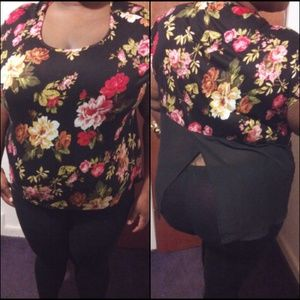 Ambiance Apparel Tops - Host Pick 5/16 New floral fly away back plus top