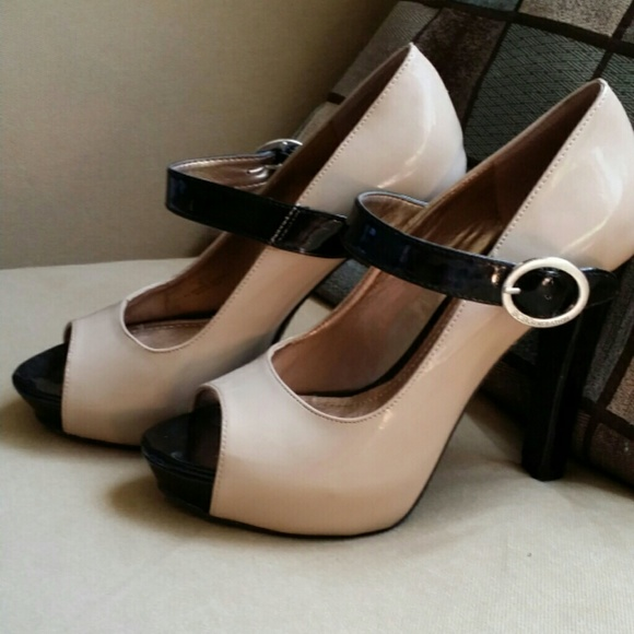 221cb5bb2a9 BCBGeneration Shoes - BCBG nude Mary Jane pumps