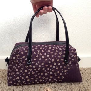 Handbags - 🌸🌼👛 Dark Purple w/Flowers Cute Handbag