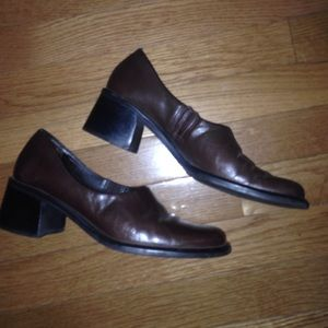 Apostrophe Shoes - Apostrophe Brown Leather wedges in SZ 8