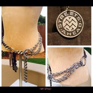 Streets Ahead Accessories - Streets Ahead Silver and Chain Belt