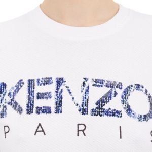 Kenzo Sweaters - [Kenzo]white sequin logo sweatshirt