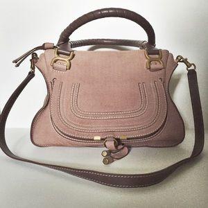 42% off Chloe Handbags - Chloe Marcie Medium Satchel Desert Mauve ...