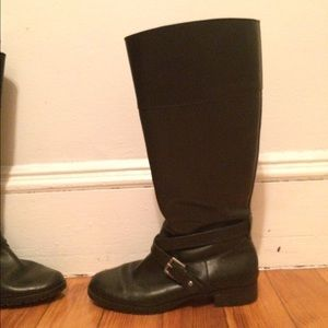 Black Ralph Lauren Riding Boots