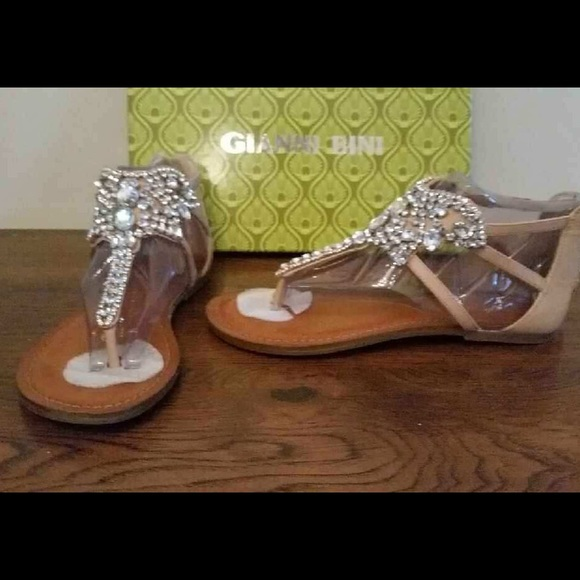 e059ae9c901a Gianni Bini Jeweled Flat Sandal