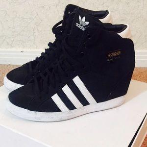 fad59af299b Adidas Shoes - Adidas suede hidden wedge sneaker