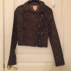 Cheetah print silence + noise jacket