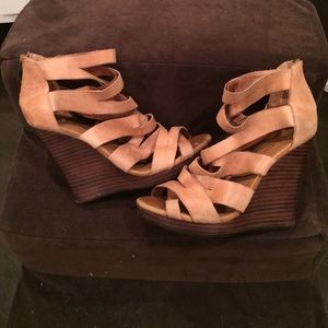 Aldo Wedges-Tan Size 6