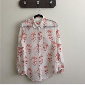 Madewell Sheer Floral Top