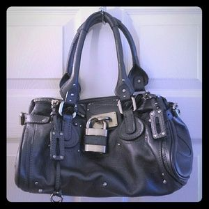 Chloe' Paddington Satchel Purse - Anthracite