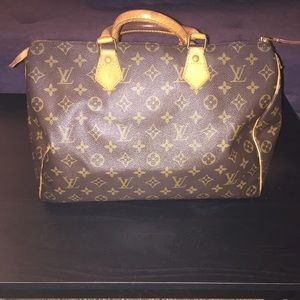 Authentic Louis Vuitton Vintage Speedy 35