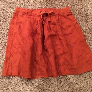 J Crew. Linen skirt.