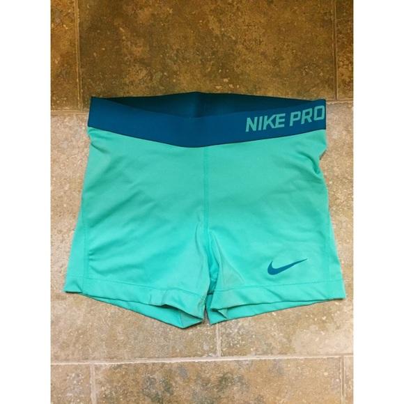 Mint Green Nike Pro Shorts Poshmark