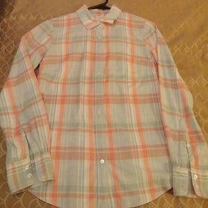 J. Crew the perfect shirt size 2 100% cotton
