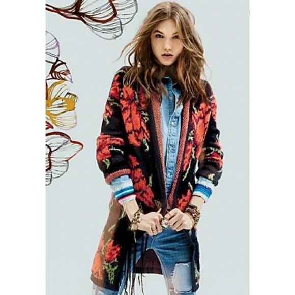 eed397b9376c Free People Sweaters | Rare Flower Power Cardigan Jacket | Poshmark
