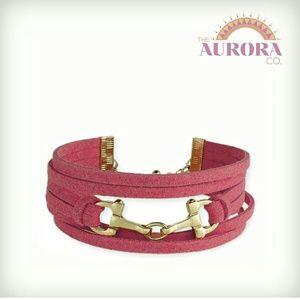 THE AURORA CO. vegan suede bracelet
