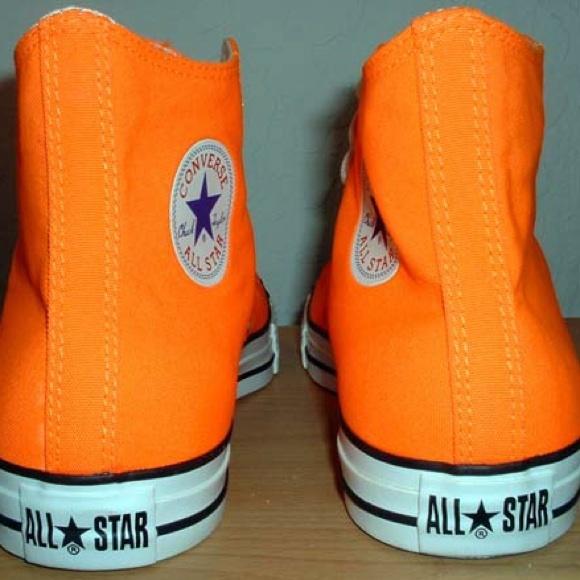 5e5056e0ea8 Converse Shoes - Neon Orange High Top Converse