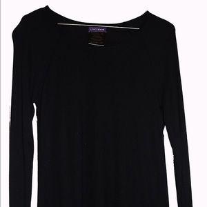 Longchamp Lightweight, Black Long-Sleeve Top