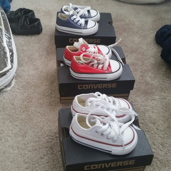 a3e03c7ab48 Converse Other - 3 pairs of Infant Converse Hard Bottom Sneakers