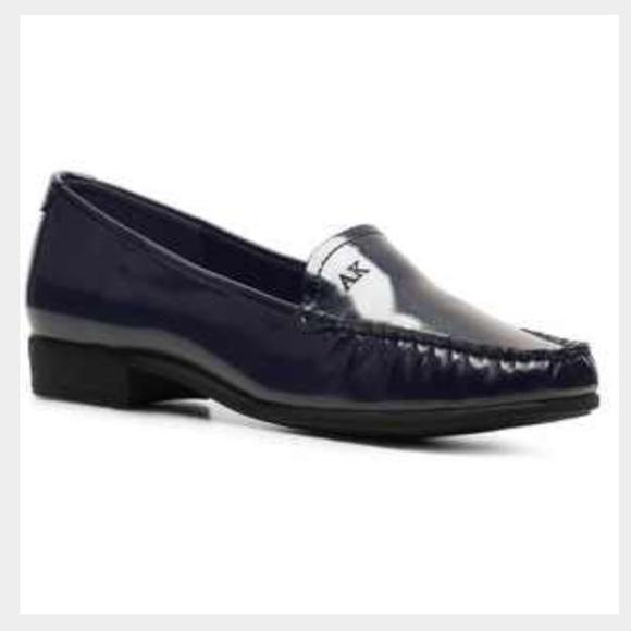 bca3766028f8 Anne Klein Shoes - Anne Klein Vama textured black patent loafer