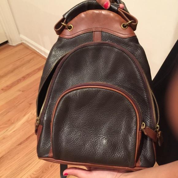 95% off M London Handbags - M London mini backpack 100% leather ...