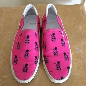 Saint Laurent pink sneakers
