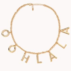 Ooh La La Gold Statement Necklace