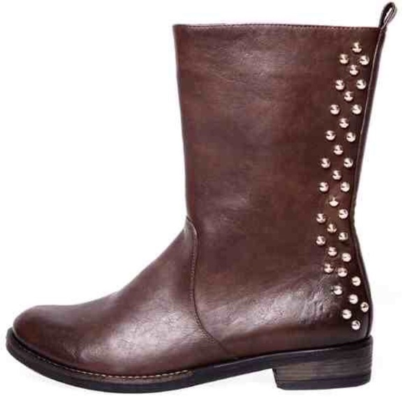 Cape Robbin  Shoes - Cape Robbin Studded Boot Brown