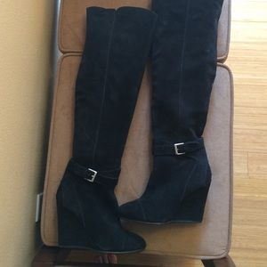 SALE!!! Kelsi Dagger over knee wedge suede boots