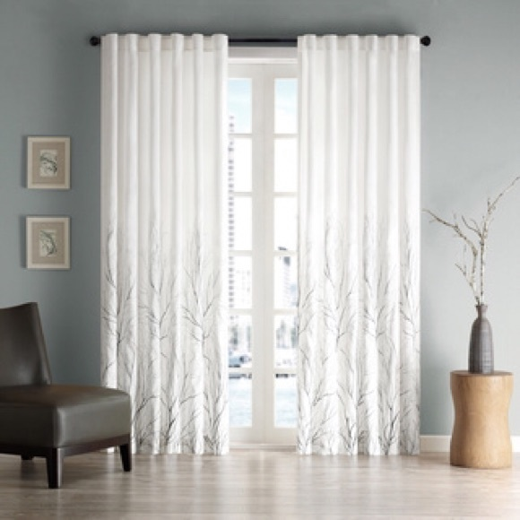 Superb Other   Madison Park Silver Tree Branch Curtains