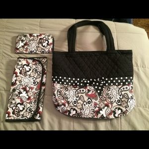 Donna Sharp Diaper Bag w/wallet & changing pad