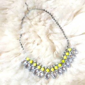 Silver & Neon Crystal Statement Necklace