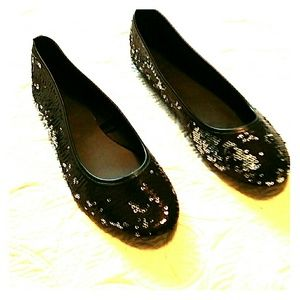 Shoes - Sparkly sequined ballet flats