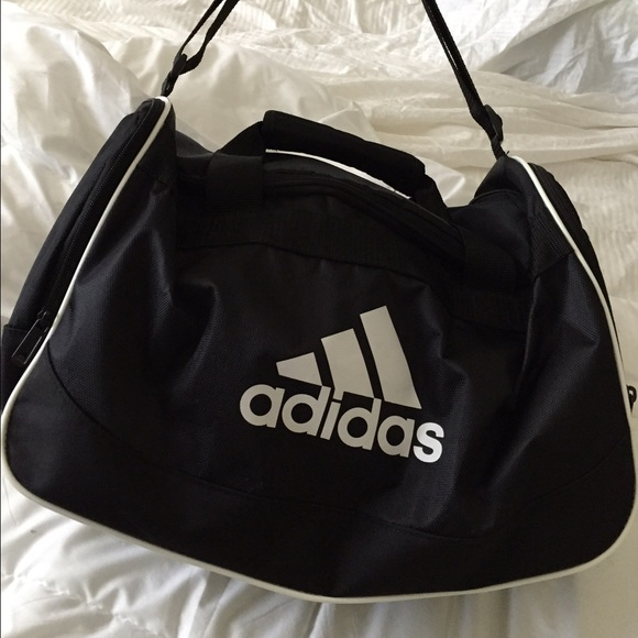 Adidas Perfect Black White Sport Gym Bag