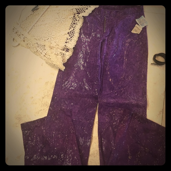 Leather/suede pants