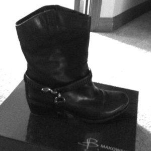 B Makowsky Hudson boots, Blk sz. 7