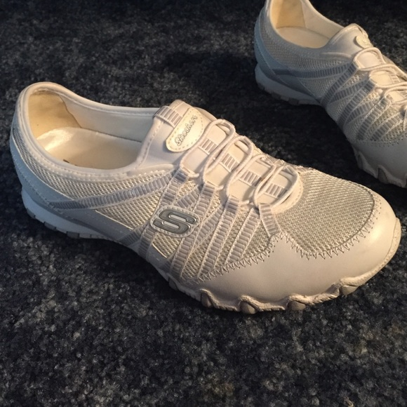 Skechers Shoes | White No Tie Sneakers