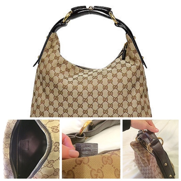 91a6d8447 Gucci Handbags - 100% Authentic Gucci horse bit GG hobo bag
