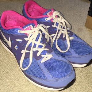 88 nike shoes blue white and pink nike sneakers
