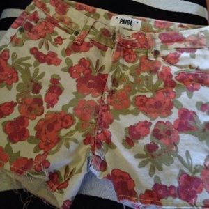 Paige high waisted floral shorts