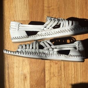 Seychelles Shoes - White Seychelles Leather Sandals