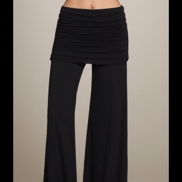 CHATOYANT - GORGEOUS WIDE LEG PANTS WITH FOLD OVER WAIST from ...